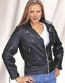 Ladies Heavy Duty Soft Leather Motorcycle Jacket