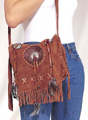 Ladies western purse with fringes