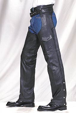 Braided Leather Chaps (Medium Weight) **ON SALE**