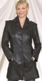Ladies 2/4 coat with button front