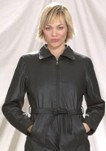 Ladies 2/4 jacket with removable belt zipout lining