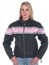 Ladies leather racer jacket