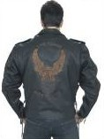 Mens Live to Ride Eagle Leather Jacket
