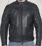 Mens Naked Cowhide Leather Racer jacket