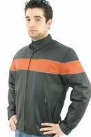 Mens Soft Leather Motorcycle Jacket