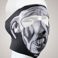White Bulldog Face mask with velcro strap on back