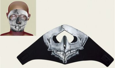 Skull Face mask with velcro strap on back