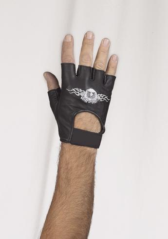 fingerless gloves with eagle