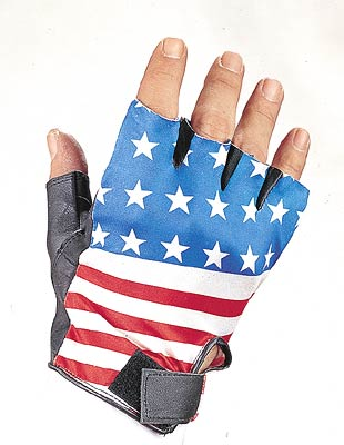 USA flag fingerless gloves