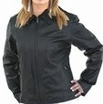 Ladies soft leather jacket
