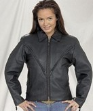 Ladies Heavy Duty Leather MC Jacket
