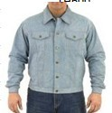 Mens denim shirt with snaps