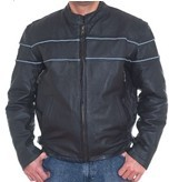 Men's  Cowhide Racer Jackets