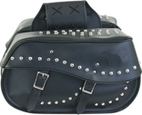 PVC SADDLEBAG WITH STUDS