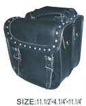 PVC SADDLEBAG W/ Q-RELEASE, STUDS & EAGLE-LIFE TIME WARRANTY