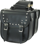 PVC SADDLEBAG WITH STUDS & EAGLE