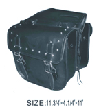 PVC Saddle Bag w/ Heavy Duty Verlcro cover & Lock & Zip Off