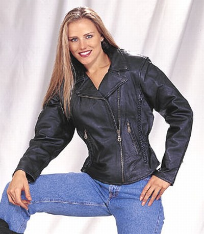 Ladies Heavy Duty Soft Leather Jacket